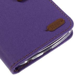 Style PU kožené puzdro pro LG K10 - fialové - 7