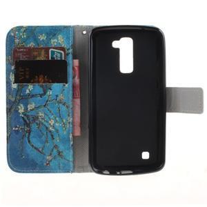 Peňaženkové puzdro pre mobil LG K10 - kvitnúce strom - 7