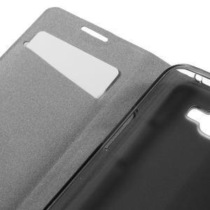 Horse PU kožené puzdro pre mobil LG K4 - biele - 7