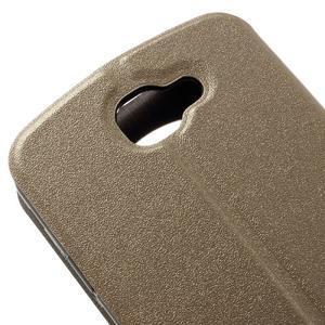 Trend pouzdro s okýnkem na mobil LG K4 - zlaté - 7