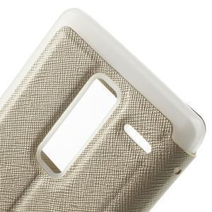 Cross peněženkové pouzdro s okýnkem na LG Zero - zlaté - 7