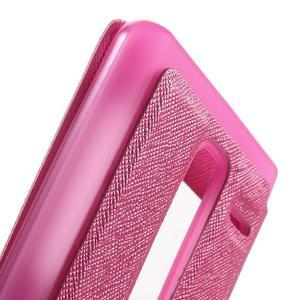 Cross peňaženkové puzdro s okienkom na LG Zero - rose - 7
