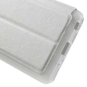 Cross peněženkové pouzdro s okýnkem na LG Zero - bílé - 7