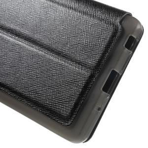 Cross peňaženkové puzdro s okienkom na LG Zero - čierne - 7