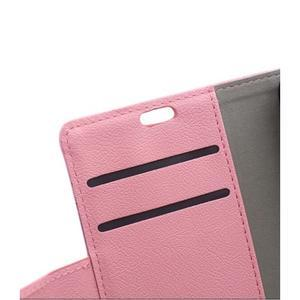 Wallet pouzdro na mobil Lenovo A1000 - růžové - 7