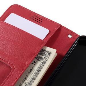 Funny peňaženkové puzdro na mobil Microsoft Lumia 650 - červené - 7