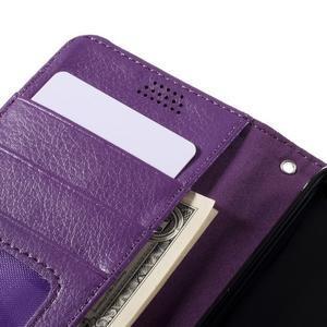 Funny peňaženkové puzdro na mobil Microsoft Lumia 650 - fialové - 7