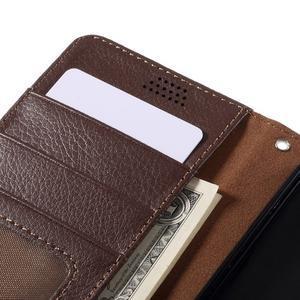 Funny peňaženkové puzdro na mobil Microsoft Lumia 650 - hnedé - 7