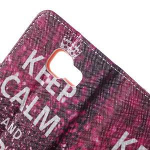 Peňaženkové puzdro pre mobil Samsung Galaxy A3 (2016) - keep calm - 7