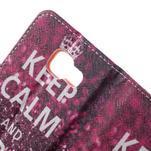 Peňaženkové puzdro pre mobil Samsung Galaxy A3 (2016) - keep calm - 7/7