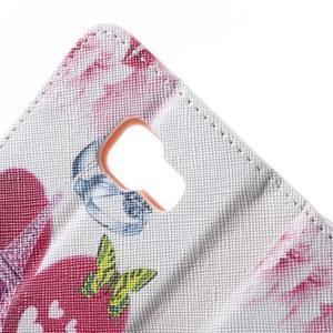 Peňaženkové puzdro na mobil Samsung Galaxy A3 (2016) - srdce Eiffel Tower - 7