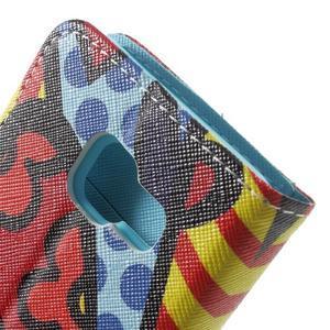 Peňaženkové puzdro na mobil Samsung Galaxy A3 (2016) - farebný motýl - 7
