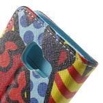 Peňaženkové puzdro na mobil Samsung Galaxy A3 (2016) - farebný motýl - 7/7