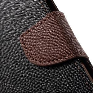 Goospery peňaženkové puzdro na Samsung Galaxy A3 (2016) - čierné/hnedé - 7