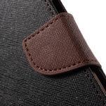 Goospery peňaženkové puzdro na Samsung Galaxy A3 (2016) - čierné/hnedé - 7/7