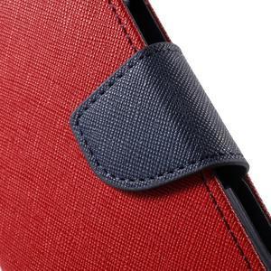 Goospery peňaženkové puzdro na Samsung Galaxy A3 (2016) - červené - 7