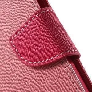 Goospery peňaženkové puzdro na Samsung Galaxy A3 (2016) - růžové - 7