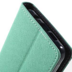 Goospery peňaženkové puzdro na Samsung Galaxy A3 (2016) - cyan - 7
