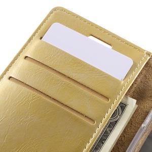 Mercury peňaženkové puzdro pre Samsung Galaxy A3 (2016) - zlaté - 7