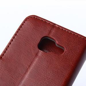 Wallet puzdro na mobil Samsung Galaxy A3 (2016) - hnedé - 7