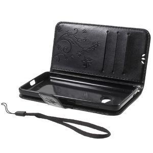 Butterfly peňaženkové puzdro na Microsoft Lumia 535 - čierné - 7