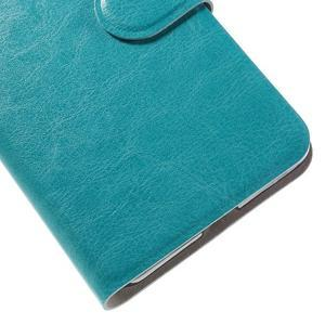 Horse peňaženkové puzdro pre mobil Microsoft Lumia 650 - modré - 7