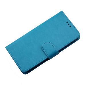 Horse PU kožené pouzdro na Sony Xperia M5 - modré - 7