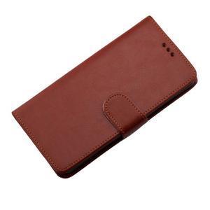 Horse PU kožené puzdro pre Sony Xperia M5 - hnedé - 7