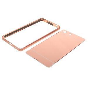 Kryt s kovovým obvodom pre Sony Xperia M5 - rose gold - 7