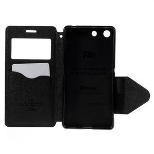Diary puzdro s okienkom na Sony Xperia M5 - čierne - 7