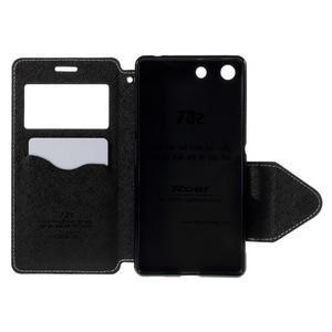 Diary puzdro s okienkom na Sony Xperia M5 - biele - 7