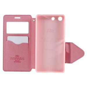 Diary puzdro s okienkom na Sony Xperia M5 - rose - 7