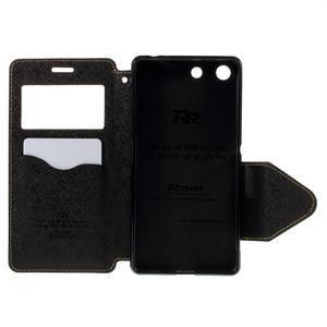 Diary puzdro s okienkom na Sony Xperia M5 - žlté - 7