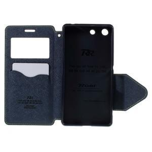 Diary pouzdro s okýnkem na Sony Xperia M5 - zelené - 7