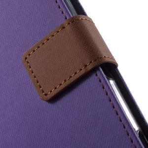 Wall PU kožené pouzdro na mobil Sony Xperia M5 - fialové - 7