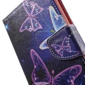 Stand peněženkové pouzdro na Sony Xperia M5 - magičtí motýlci - 7