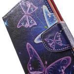 Stand peněženkové pouzdro na Sony Xperia M5 - magičtí motýlci - 7/7