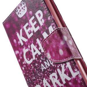 Stand Peňaženkové puzdro pre Sony Xperia M5 - Keep Calm - 7