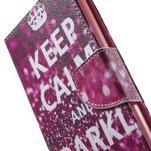 Stand Peňaženkové puzdro pre Sony Xperia M5 - Keep Calm - 7/7