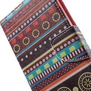 Stand Peňaženkové puzdro pre Sony Xperia M5 - tribal - 7