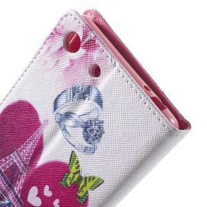 Stand peněženkové pouzdro na Sony Xperia M5 - láska Eiffelka - 7