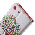 Stand peněženkové pouzdro na Sony Xperia M5 - květinový strom - 7/7