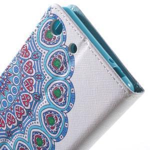 Stand Peňaženkové puzdro pre Sony Xperia M5 - mandala - 7