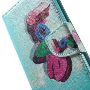 Stand Peňaženkové puzdro pre Sony Xperia M5 - love - 7