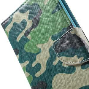Stand Peňaženkové puzdro pre Sony Xperia M5 - kamufláž - 7