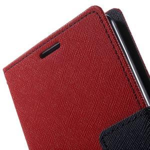 Goos PU kožené penženkové pouzdro na Sony Xperia M5 - červené - 7