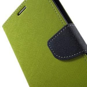 Goos PU kožené peňaženkové puzdro pre Sony Xperia M5 - zelené - 7