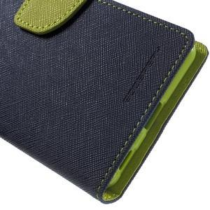 Goos PU kožené penženkové pouzdro na Sony Xperia M5 - tmavěmodré - 7