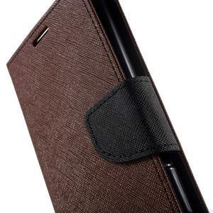 Goos PU kožené peňaženkové puzdro pre Sony Xperia M5 - hnedé - 7