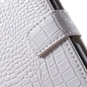 Croco peněženkové pouzdro na mobil Sony Xperia M5 - bílé - 7